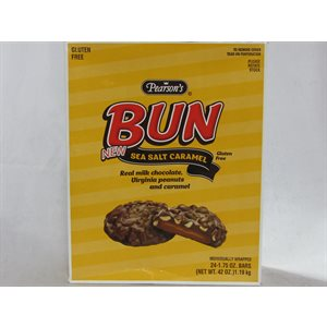 !BUN BAR CARAMEL 24CT
