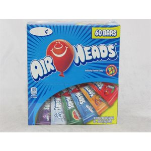 AIRHEADS ASSORTED BARS 60CT