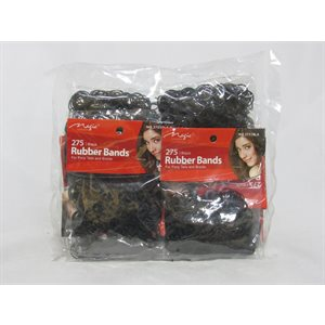 BLACK RUBBER BAND BAG 300PK