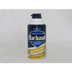 BARBASOL SHAVING CREAM 10OZ