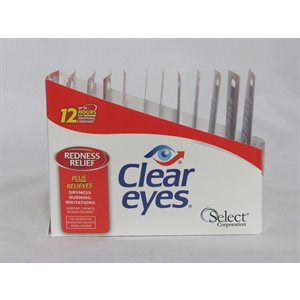 CLEAR EYES REDNESS .2OZ 12CT