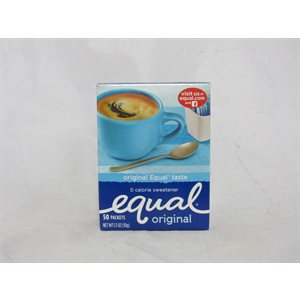EQUAL SWEETENER 50CT EA