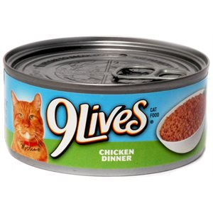 9-LIVES MEATY PATE CHICKEN DINNER 24CT