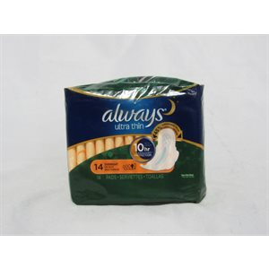 ALWAYS ULTRATHIN W / WINGS OVERNIGHT 14PK