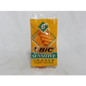 BIC SHAVER SENSITIVE 6CT