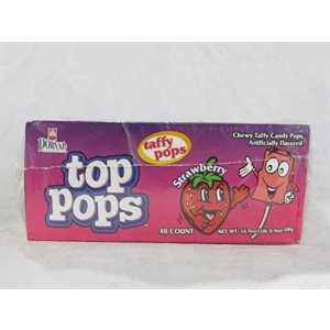 DORVAL TOP POPS STRAWBERRY 48CT
