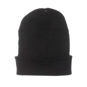 SOLID BLACK WINTER HAT 12CT