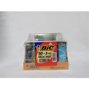 LIGHTER BIC VALUE 50+3 PACK