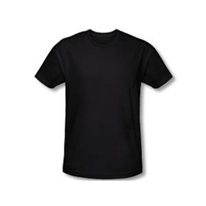 T-SHIRT BLACK CREW 4X 6CT