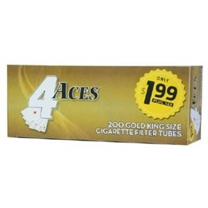 4 ACES TUBES GOLD $1.99 5CT