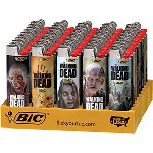 LIGHTER-BIC WALK DEAD 50CT