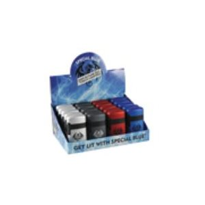LIGHTER SPECIAL BLUE DBL FLAME METAL 20CT