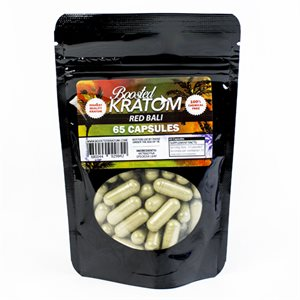 BOOSTED KRATOM RED BALI 65CT EA