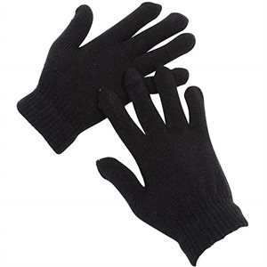 GLOVES WINTER MAGIC BLACK 12CT
